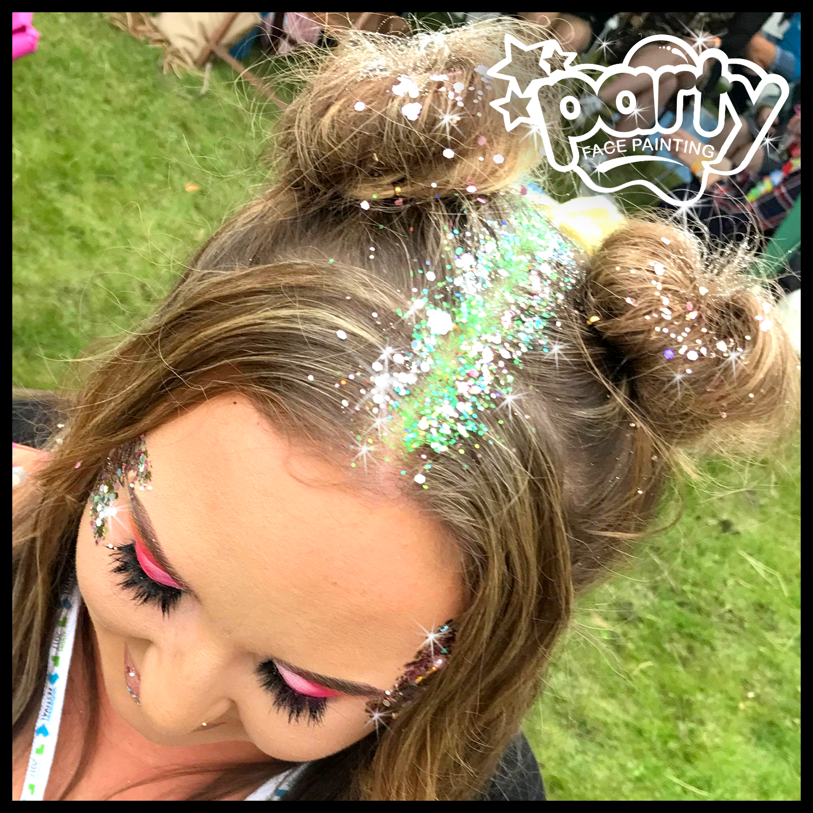 Hair Glitter Glitter Roots