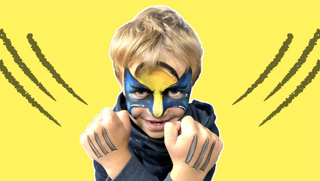 Wolverine Face Painting Header